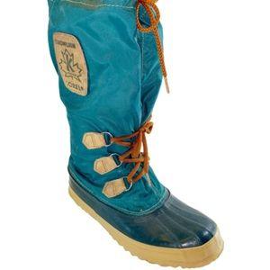 Vintage Sorel 90's Green Snowlion Kaufman Boots 8